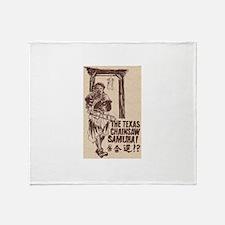 The Texas Chainsaw Samurai Throw Blanket