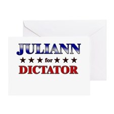 JULIANN for dictator Greeting Card