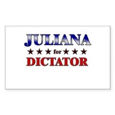 JULIANA for dictator Rectangle Decal