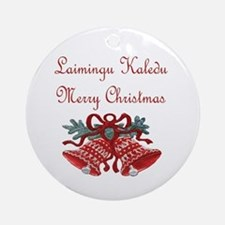 Lithuanian Christmas Ornament (Round)