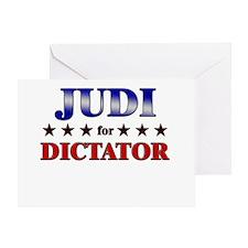 JUDI for dictator Greeting Card