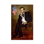 Lincoln / Rat Terreier Sticker (Rectangle)
