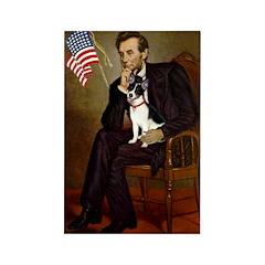 Lincoln / Rat Terreier Rectangle Magnet (10 pack)