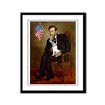 Lincoln / Rat Terreier Framed Panel Print