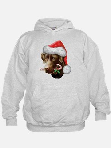 Chocolate Lab Christmas Hoodie