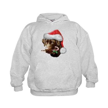 Chocolate Lab Christmas Kids Hoodie