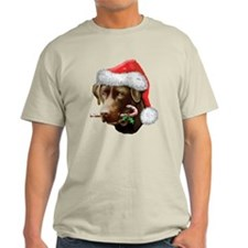 Chocolate Lab Christmas T-Shirt