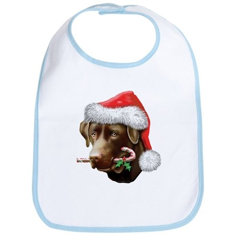 Chocolate Lab Christmas Bib