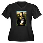 Mona / Rat Terrier Women's Plus Size V-Neck Dark T
