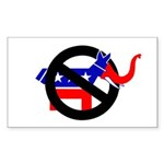 REPUBLICAN-LITE DEMOCRATS Rectangle Sticker