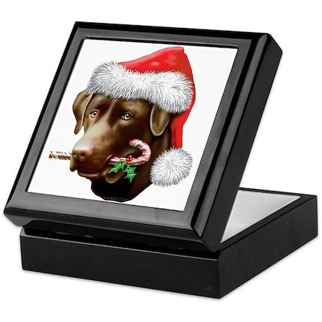 Chocolate Lab Christmas Keepsake Box