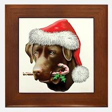 Chocolate Lab Christmas Framed Tile