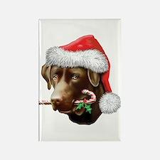Chocolate Lab Christmas Rectangle Magnet