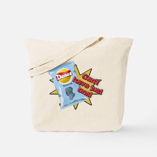 Natural Blue Danes VS Chips Tote Bag