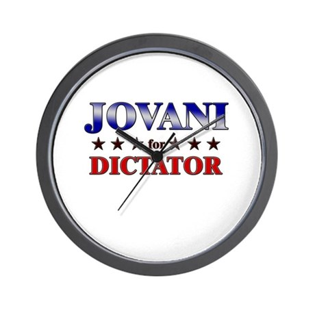 JOVANI for dictator Wall Clock