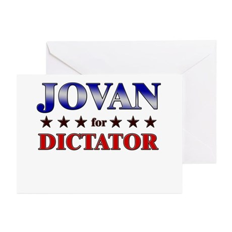JOVAN for dictator Greeting Cards (Pk of 10)