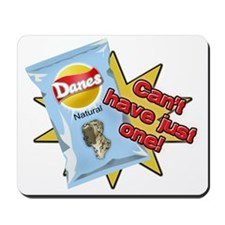 Natural Brindle Danes VS Chips Mousepad