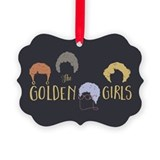 Golden girl Picture Frame Ornaments