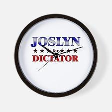 JOSLYN for dictator Wall Clock