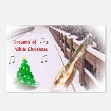 Dulcimers and White Christmas Postcards (Package o