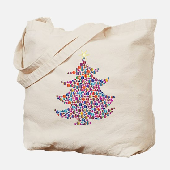 COLORFUL CHRISTMAS TREE Tote Bag