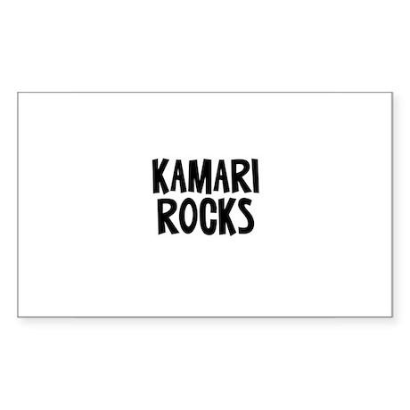 Kamari Rocks Rectangle Sticker
