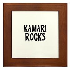 Kamari Rocks Framed Tile