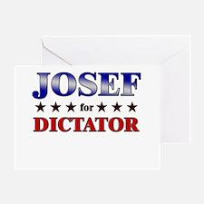 JOSEF for dictator Greeting Card