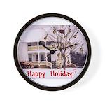 Mandolin and Happy Holidays Wall Clock