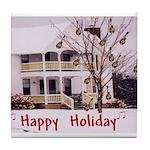 Mandolin and Happy Holidays Tile Coaster