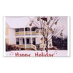 Mandolin and Happy Holidays Rectangle Sticker