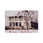 Mandolin and Happy Holidays Rectangle Magnet (10 p