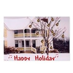 Mandolin and Happy Holidays Postcards (Package of