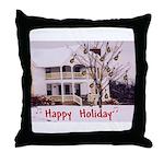 Mandolin and Happy Holidays Throw Pillow