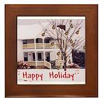Mandolin and Happy Holidays Framed Tile