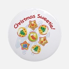 CHRISTMAS SWEETIE! Ornament (Round)