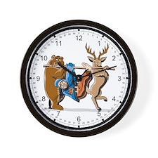 Anti-Hunting Wild Animal Revenge Wall Clock