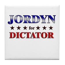 JORDYN for dictator Tile Coaster