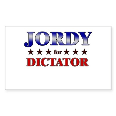 JORDY for dictator Rectangle Sticker