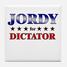 JORDY for dictator Tile Coaster
