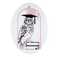 Smart Owl Oval Ornament
