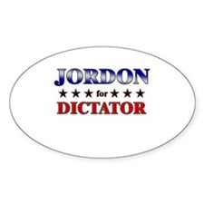 JORDON for dictator Oval Decal