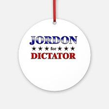 JORDON for dictator Ornament (Round)