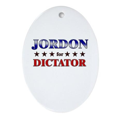 JORDON for dictator Oval Ornament