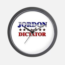 JORDON for dictator Wall Clock