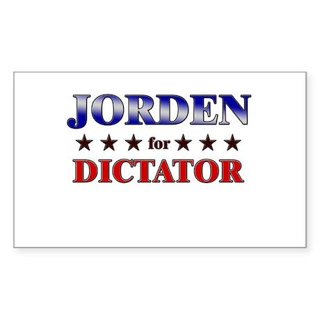 JORDEN for dictator Rectangle Sticker