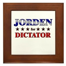 JORDEN for dictator Framed Tile