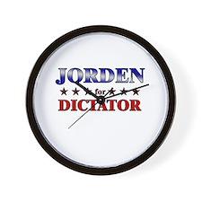 JORDEN for dictator Wall Clock