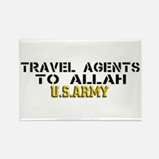 Travel agents to allah Rectangle Magnet