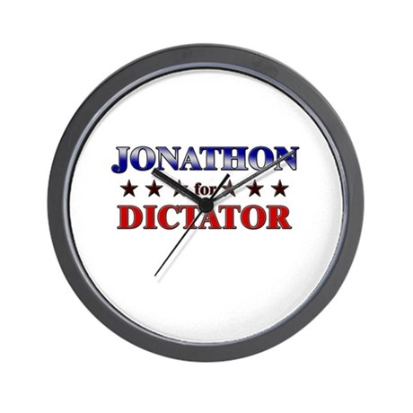 JONATHON for dictator Wall Clock